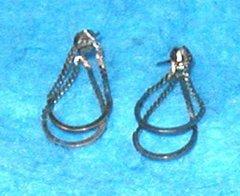 Earrings - Serpentine with 2 Loops B3127