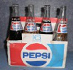 Pepsi 5 bottles of 8 Pack and Box B4594
