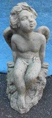 Statue Angel on Rock Y0983