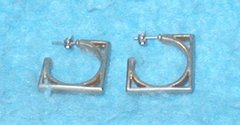 Earrings - Squares B3128