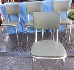 Chairs Kitchen Chrome Legs B5273