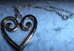 Necklace - Heart - Silver With Chain B4606