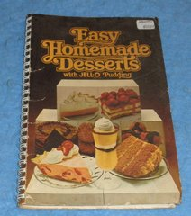 Cookbook Easy Homemade Desserts with Jello Pudding B5839