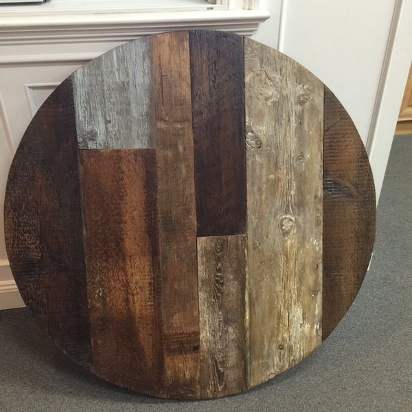 48 Inch Round reclaimed wood dining table top reclaimed wood