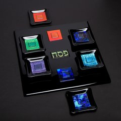Cohen - Black and Multi-colored Seder Set
