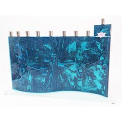 Baskin - Western Wall Menorah, Jerusalem Copper Rustic Turquoise