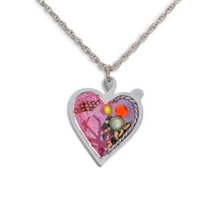 Seeka - Pink Heart Necklace