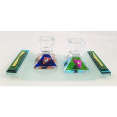 Baskin - Western Wall Candle Holder & Drip Tray Set