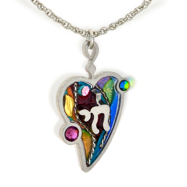 chai light file charm necklace page judaica peace inspired love silver product