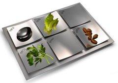 Cowan - Dune Seder Plate - Shiny Steel