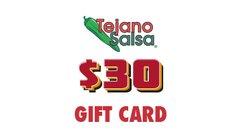 Tejano Salsa Gift Card $30