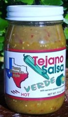 Tejano Salsa Verde Hot - 16 oz.
