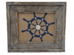 Ship Wheel - Burlap Collection