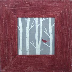 Birch Tree Cardinal - SOLD OUT