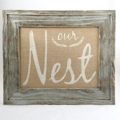 11 x 14 Our Nest - Burlap Collection