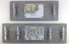 Customizable Nautical Chart Cleat Racks