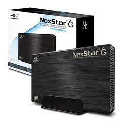 "Vantec NexStar 6G 3.5"" SATA III 6 Gb/s to USB 3.0 Black Enclosure"