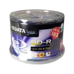 Ridata 4x-10x Valor Blu Ray 25GB White Inkjet Blu Ray Disc 50 Packs (BDR-254-RDVIWCB50U)