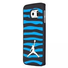 3D Air Jordan Strips Phone Cases for Samsung Galaxy S7 Edge BLACK/BLUE