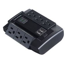 CyberPower CSP600WSU Professional 6 Swivel Outlets Surge