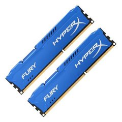 Kingston HyperX Fury Blue 16GB (2x8GB) DDR3 1600MHz CL10 DIMMs (HX316C10FK2/16)