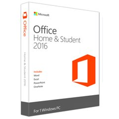 Microsoft Office Home and Student 2016 Medialess