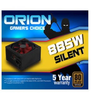 Orion 885Watts Silent Power Supply 80Plus