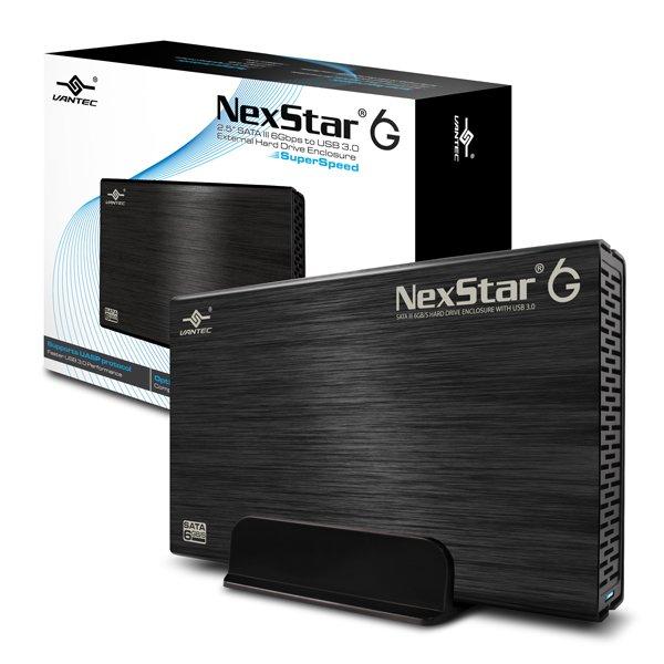 """Vantec NexStar 6G 3.5"""" SATA III 6 Gb/s to USB 3.0 Black Enclosure"""