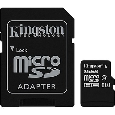 Kingston® 16GB Micro SDHC, Class 10