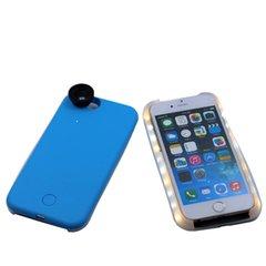 IPhone 6/6S Selfie Case w/LED Light + Wiide Angle Len - Blue