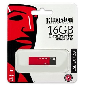 Kingston Datatraveler Mini 3.0 16GB USB Flash Drive Red
