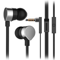 Wallytech WHF-125 Metal Earphone with Mic. & Remote - Silver