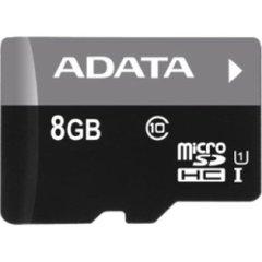 ADATA Premier 8GB microSDHC UHS-I Class 10 Flash Memory Card (AUSDH8GUICL10-RA1)