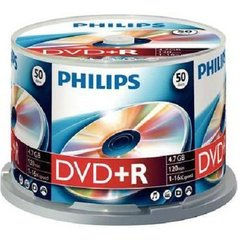 Philips DVD+R 16X 4.7GB/120min 50pk cake box (DR4S6B50F/17)