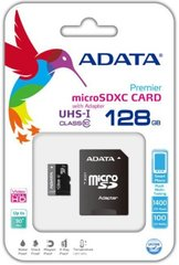 ADATA Premier 128GB microSDXC UHS-I Class 10 Flash Memory Card (AUSDX128GUICL10-RA1)