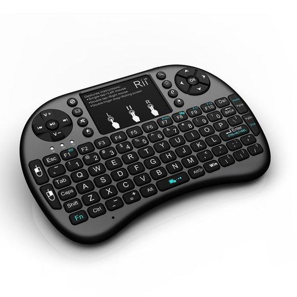 Rii i8+ Wireless Mini Keyboard-Black