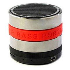 SuperBase Mini Bluetooth Speaker with MP3 Player & FM Radio - Red