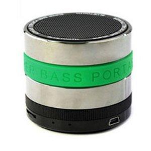 SuperBase Mini Bluetooth Speaker with MP3 Player & FM Radio - Green