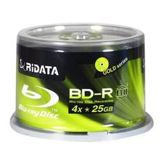 Ridata BD-R 25G 4X Low To High Hub Printable Cake Box 50Packs (BDR-254-RDIWNCB50L)