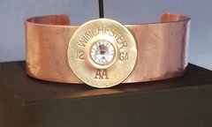 Handcrafted Copper and Shotgun Shell Cuff Bracelet