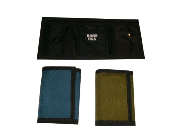 TriFold wallet with zipper Pocket Inside,MADE IN U.S.A