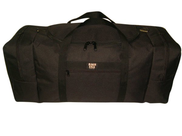Expedition duffle travel bag with U opening for easy excess and two end compartment.