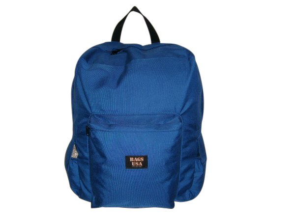 jumbo size backpack,also carry-on size with front and side pockets made in USA.