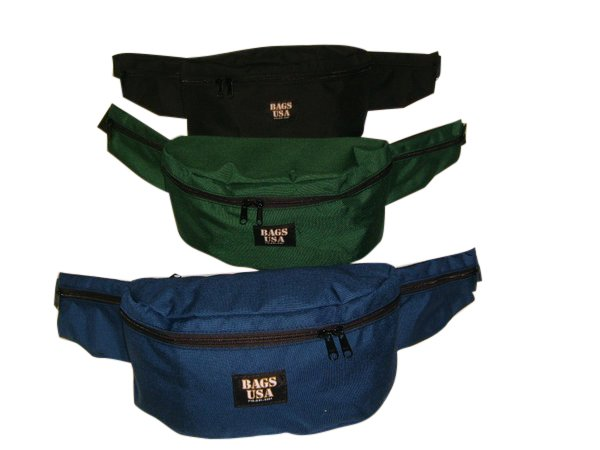 Deluxe fanny pack 3 pockets,waist pack,belly bag,ski fanny pack.