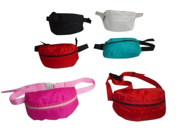 Fanny pack assorted colors,waist bags or belly bag 1 size fits all Made in USA.