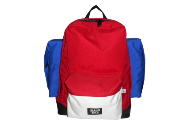 Backpacks Deluxe two side pockets, leather or suede bottom,Made in USA.