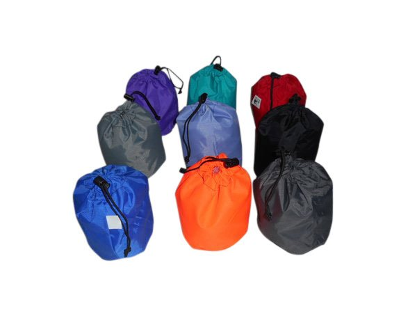 Tiny stuff sacks drawstring nylon bag perfect for camping gadgets Made in USA
