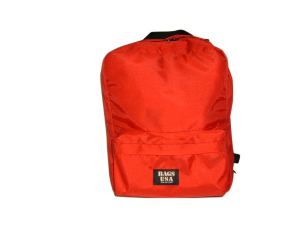 First aid bag,emergency backpack,search and rescue bag red or orange Made in U.S.A.