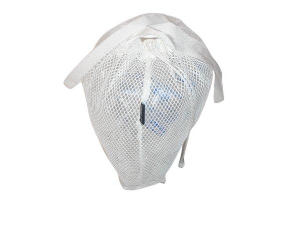 Drawstring mesh laundry bag,beach bag very durable made in USA
