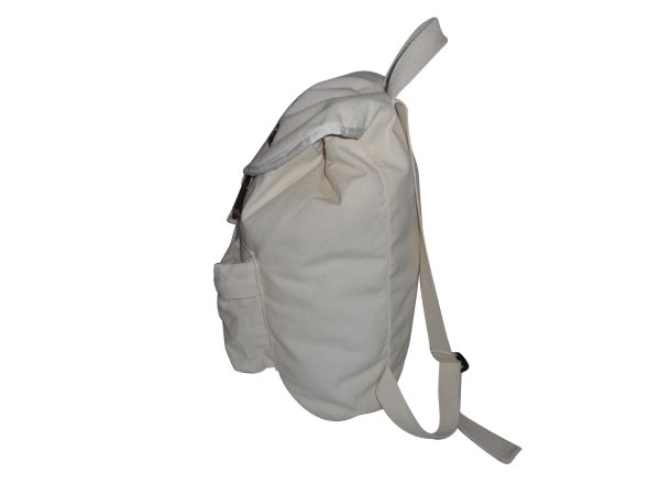 Canvas Backpack 14 oz, drawstring environmentally friendly Made in USA